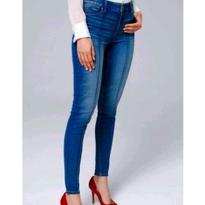 White House Black Market Pintucked High Rise Jeans